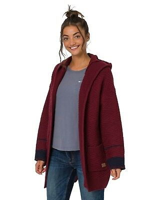 Animal Maya Coco Hooded Cardigan - Red - Ladies Cardigans f93c6c638