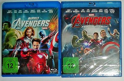 The Avengers 1 und 2 Age of Ultron   Blu Ray NEU Marvel