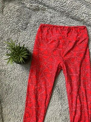 Lularoe Women S Leggings High Waisted Soft Valentine S Day Hearts