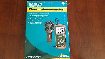 Extech AN100, CFM/CMM Thermo-Anemometer New in Box, Never used, USA seller