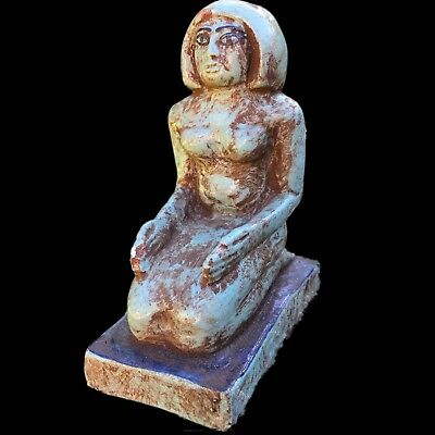 BEAUTIFUL ANCIENT EGYPTIAN STATUE, LARGE SIZE, circa 664-332 bc