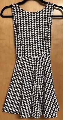 American Apparel Mini Dress. Houndstooth. Black And White. XS.