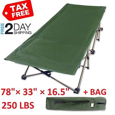 REDCAMP Folding Camping Cot for Adults Sleeping Hiking Travel Military Wide Bed