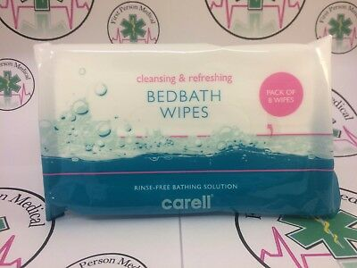 Carell Bedbath Wipes Patient Bathing Triple Pack 3 x 8