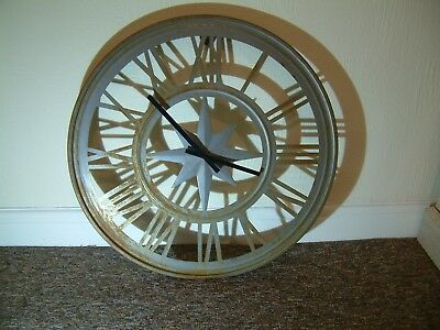 Vintage Retro - Large Wall Clock 24 inch in Diameter , Keeps Excellent Time