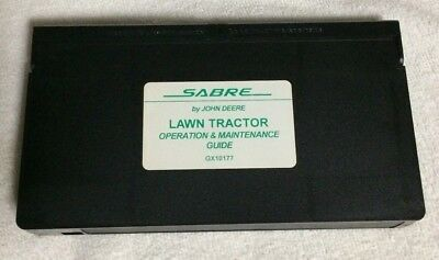 NEW Sabre by John Deere Lawn Tractor Operation Guide VHS never played