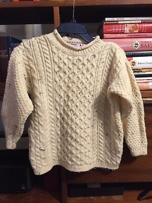 Children's Fisherman's Knit Wool Pullover Sweater Size Small 7/8 years