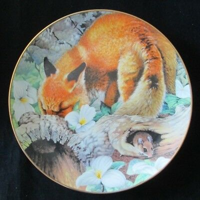 "The Country Diary ""Red Fox"" April 1984 Plate Geoff Mowery Franklin Porcelain"