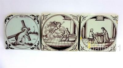 George II 18th Century ENGLISH DELFTWARE Tiles with Biblical Scenes c1730s