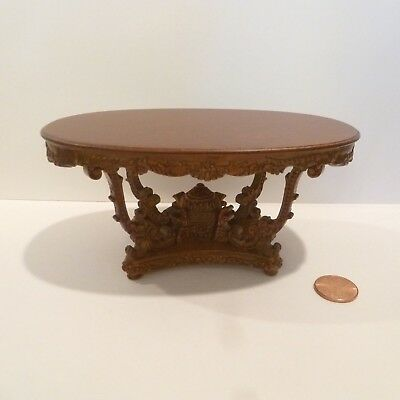 "Miniature Dining Room Table  ""ysabelle"" Collection By Bespaq Nwn Finish"