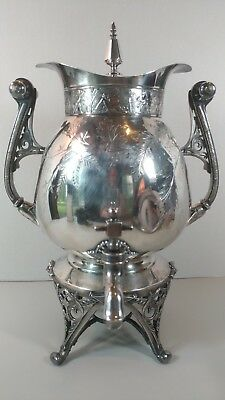 Antique Teapot Urn Meridian Silver Plate Aesthetic Movement Victorian Pairpoint