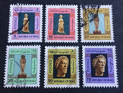 6 nice used stamps Republic of Iraq 1976