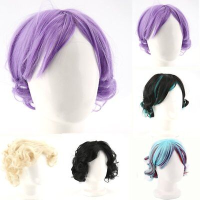Lovely Ladies Short Wig Blonde Black Brown Wig Bob Curly Wedge Fashion Wigs