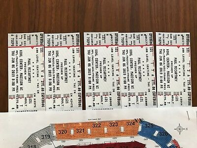Paul McCartney Concert tickets JUNE 6 KOHL CENTER Madison WI