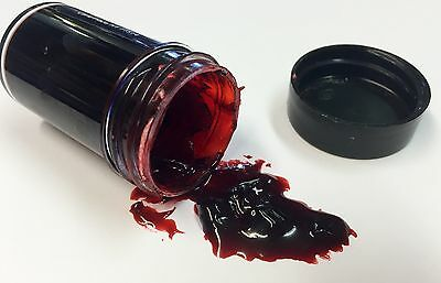 Fresh Thick Fake Dark Blood Scab Special Realistic Effects 1oz Dries Into Place