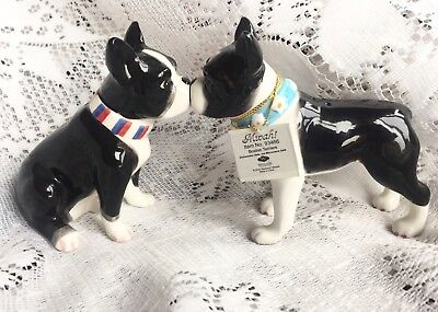 Westland Boston Terrier Kissing Magnetic Salt And Pepper Shakers 2008