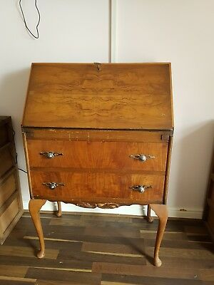 Antique Walnut Writing Bureau