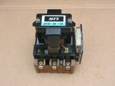 Mte Uco 20-30 Three Phase Contactor 115V Coil