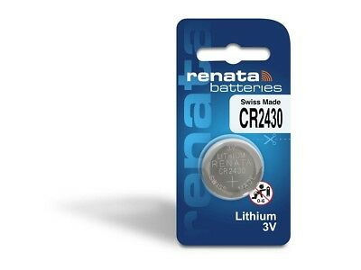 1x Renata CR2430 Batteries Lithium Battery 3V Button/Coin Cell CR 2430 DL2430