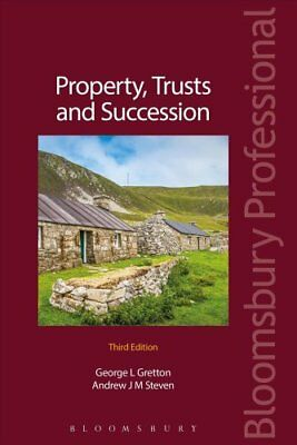 Property, Trusts and Succession by Andrew Steven (Paperback, 2017)