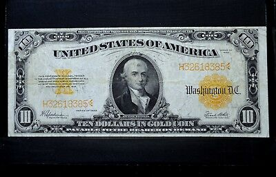 1922 $10 Gold Certificate ✪ Vf Very Fine ✪ Large Size Money L@@k 385 ◢Trusted◣