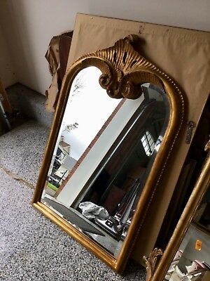 "Antique Late 19th/Early 20th C  LARGE HAND CARVED Mirror, 26"" x 40"" NICE!"
