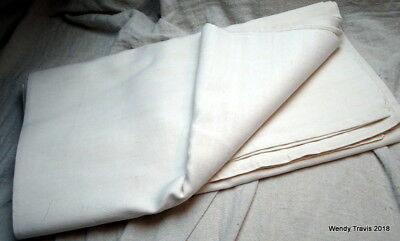 Laundered & Starched Vintage French   Oatmeal Linen  Or Metis Sheet