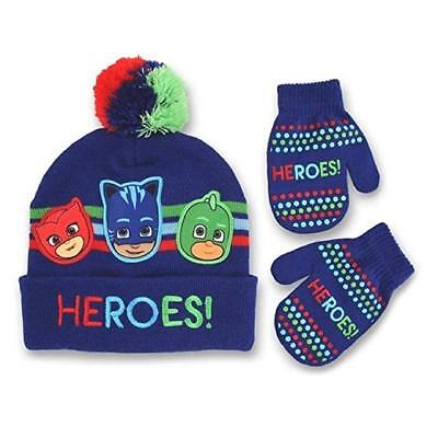 "PJ Masks Toddler Boys' ""HEROS!"" Winter Hat and Mitten Set"