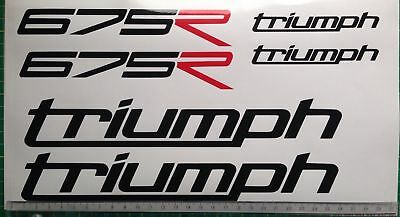 Triumph Daytona 675 R Decals Sticker Kit Sheet Track Race Bike