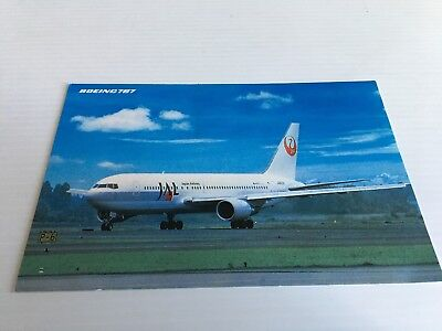 JAL Japan Airlines Boeing 767 Airline Issue Postcard