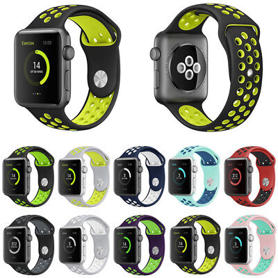 Apple Watch Band Silicone Sport Replacement Strap Series 1 2 3 Nike iWatch