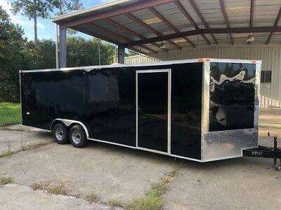 New 8.5X24 V-Nose Enclosed Car Hauler Trailer. This Is The Actual Trailer To Bid