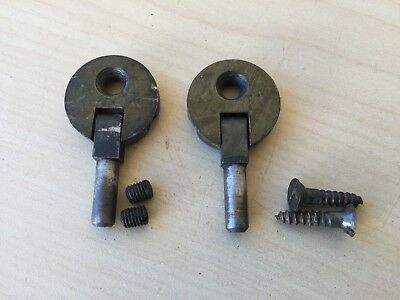 Antique Treadle Sewing Machine Cabinet 1 Hole Hinges Set of 2 from 1910 Singer