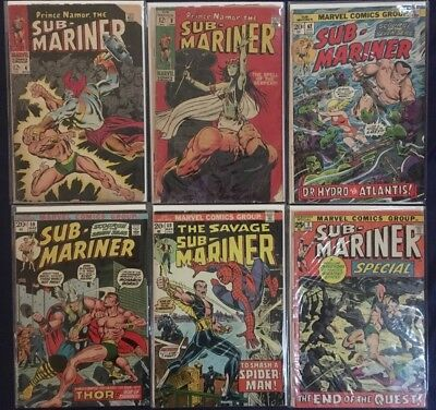 Comic Lot 20+ Sub-Mariner #4 9-69 + Invaders 1 Annual 2 3 + Marvel Bronze Spider