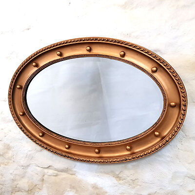 Regency Style Oval Gilt Framed Wall Mirror C19th (Victorian Antique)
