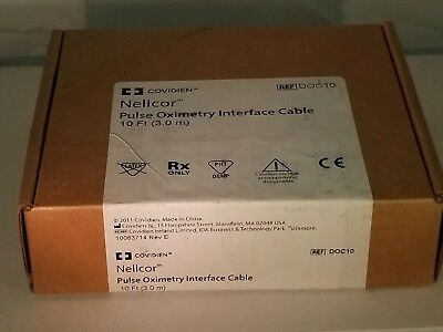 Covidien Nellcor 10' Pulse Oximetry Interface Cable DOC10,  NEW IN BOX