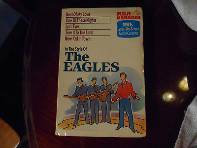 SUPER K CASSETTE RCA KARAOKE The Eagles Lyin' Eyes New Kid Best of My Love