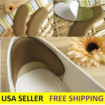 1X-100X Sticky Fabric Shoe Pads Cushion Liner Grip Back Heel Inserts Insoles LOT