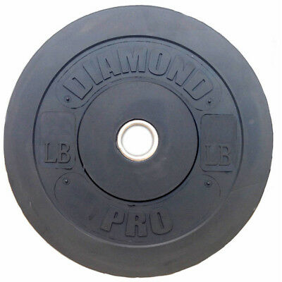 Diamond Pro 55 lb Black Bumper Plate Single Gym Home Fitness Exercise Weight New