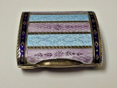 Faberge gold, silver and enamel vanity box