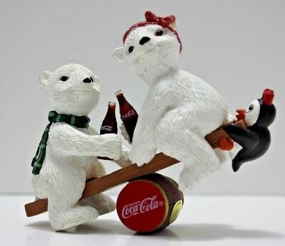 Coke Coca Cola Heritage Collection Balancing Act Polar Bears Penguin FREE SHIP