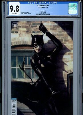 Catwoman #1 CGC 9.8 White Pages Artgerm cover variant (Marvel 2018)