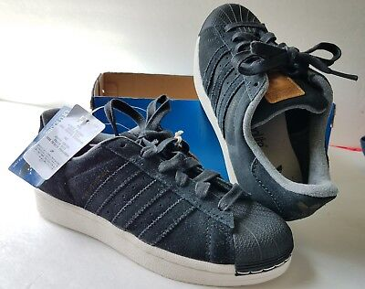 97a6155d NEW IN BOX Adidas Superstar Reptile Black Leather Kids US 6 ...