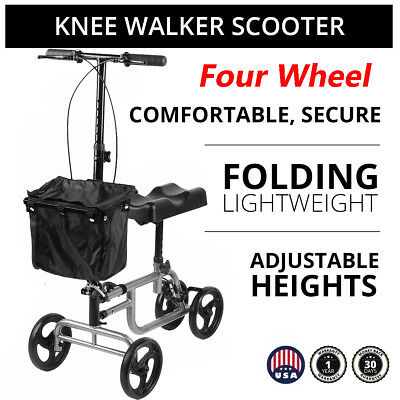 Drive Medical Steerable Knee Walker/Knee Scooter Turning Brake Basket Foldable U