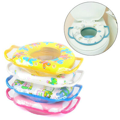 Baby Soft Padded With Handles Potty Training Toilet Seat Toddler Kids Child Safe