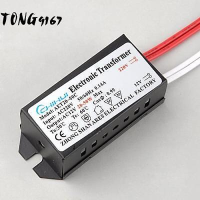 New 20-50W AC 220V to 12V 0.14A LED Power Supply Driver Electronic 9G67 02