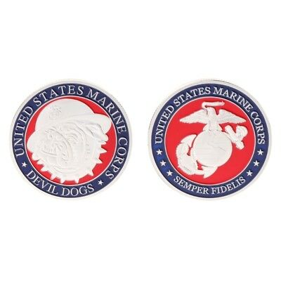 Commemorative Coin Devil Dogs US American Marine Corps Collection Arts Souvenir