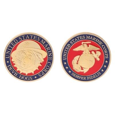 Commemorative Coin US American Marine Corps Devil Dogs Collection Arts Souvenir