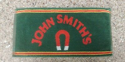 "Vintage John Smith's Horseshoe Pub Bar Towel Green Red 17""x8"" Great Condition"