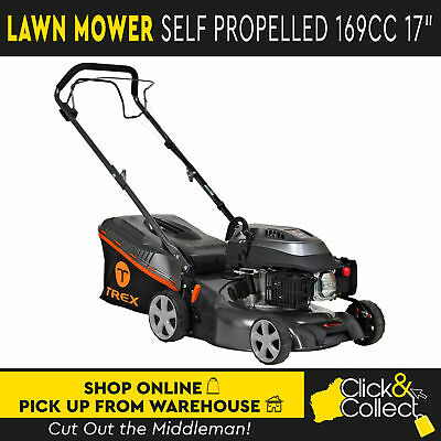 """TREX Self Propelled Lawn Mower 4 Stroke 169cc 17"""" 2 in 1 Pick Up Only"""